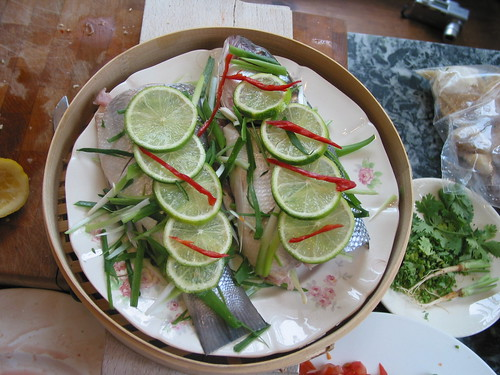 Pla Neung Manao before steaming