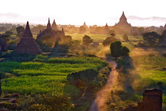 sunset in bagan - burma myanmar sunset asia travel bagan phitar