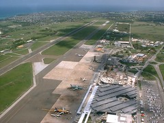 Above Grantley Adams (Attleeboy) Tags: airplane airport barbados grantley adams