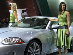 Jaguar babes (Autoblog.nl) Tags: 2005 woman car jaguar iaa xk