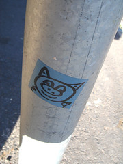 88 (Eye Candy Love) Tags: eye candy love sticker street art south africa cape town character face fun friendly
