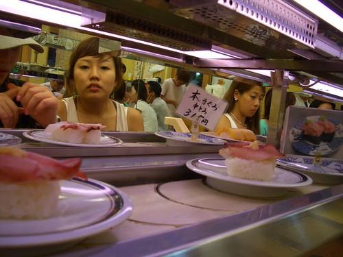 conveyor belt sushi. Conveyor belt sushi shop,