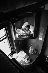 morning but not home (camil tulcan) Tags: portrait blackandwhite bw woman portraits reflections mirror blackwhite noir faces noiretblanc nikond70 sleep dream romania digitalcamera et blanc negre rumania noirblanc blancinegre camiltulcan schlafenwagen weisundschwartz blackwhiteblanc blancingre