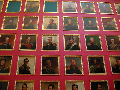 Paintings of old generals.