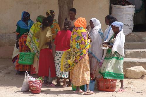 Colourful ladies in Dekemhare