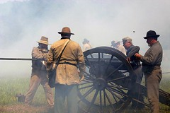 Battle of Chickamauga (Rachel Pennington) Tags: chickamaugachattanooganationalpark chickamaugabattlefield battleofchickamauga chickamauga georgia reenactors soldiers cannon fire civilwar