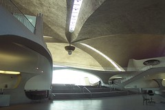 Main lobby: Eero Saarinen's abandoned TWA Terminal, JFK Airport, New York (Telstar Logistics) Tags: jfk twa saarinen airline googie architecture