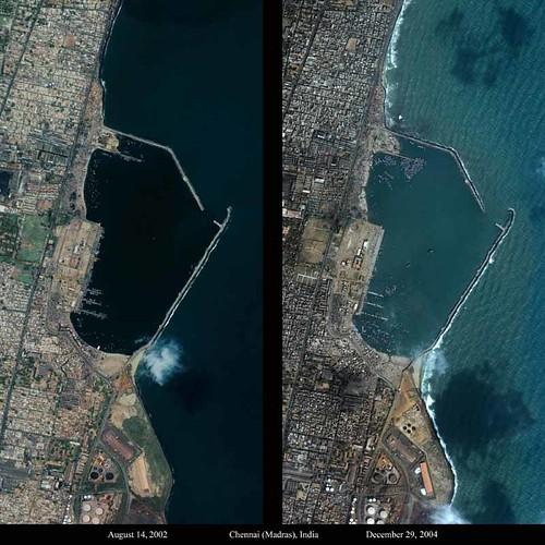 Chennai Tsunami Shorelines