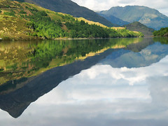 The Pap of Glencoe reflected in Loch Leven (Peter Barker) Tags: reflection water scotland canong3 lochleven papofglencoe copyrightpeterbarker wwwpeterbarkerdesigncouk