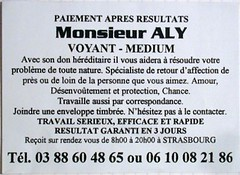 DSCN1378 Inspector Clay Tags Flyer Marabout Magopinciophilie Tract Carte Card Marketing Streetmarketing Advertisement