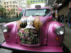 Someone's wedding (yewco) Tags: pink wedding car hongkong married hellokitty kitty