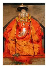 Ganesh Ji (Elishams) Tags: flowers orange india colours god traditional faith religion culture ganesh devotion offering varanasi ritual dailylife indianarchive hinduism puja rituals banaras benares uttarpradesh  hindugods hindugod