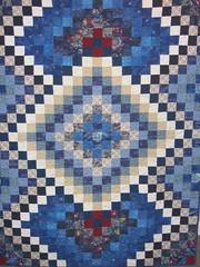 Laci's millennium quilt (Mellicious) Tags: quilt mom pieced laci millennium blue white
