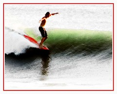 Morning on the Nose (hodad66) Tags: surf florida surfing surfart surfingart