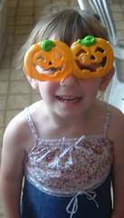 kay with pumpkin glasses (mandiesueny@verizon.net) Tags: bradnkaylee quorry likefatherlikeson 3 boys kay with tongue happy halloween