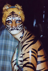 tiger woman (pieplate) Tags: art tag3 taggedout interesting tag2 tag1 absurd recreation 525 nuart tigerlady gettyimagescallforphotos