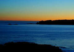 Rhapsody in Blue (I in the Sky) Tags: blue sea sky orange ilovenature pacific northwest dusk albaluminis columbia tofino british