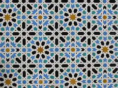Majestic Islamic tile work in the Alcazar in Sevilla (ToGa Wanderings) Tags: geometric design sevilla spain pattern islam alcazar islamicart