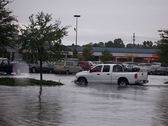 Wal*Mart Parking Lot (General Wesc) Tags: truck flood carpark washingtonnc parkinglog uploadedbyluca