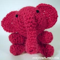 elephant (Roxycraft) Tags: amigurumi softies plush mos crochet handmade