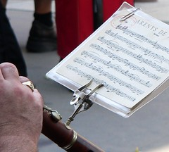 bandsman with sheet music by florriebassingbourn