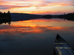Quietness* (Imapix) Tags: voyage travel sunset sky sun lake canada reflection art nature topf25 colors clouds canon wonder photography soleil photo still topv555 colorful quiet foto photographie natural image quebec topv1111 topc50 tranquility canoe 500v50f qubec silence serenity favourites hush favs stillness coucherdesoleil peacefulness calmness paddles imapix heartsease mastigouche quietude lacdelaferme noiselessness soundlessness topfavpix gatangbourque gatanbourque copyright2006gatanbourqueallrightsreserved gaetanbourque pix50 pix100 imapixphotography gatanbourquephotography