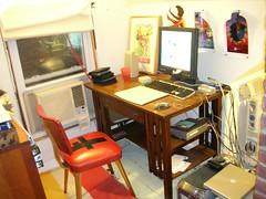 house computer studio chair interior space books monitor mo attic mohammad desks desklamps moriza riza homestudio workingspace modomatic