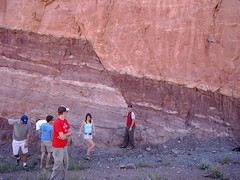 Normal Fault at the Moab Roadcut - by Molas