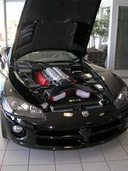One V10 To Go (Brave Heart) Tags: 2005 car cars black viper dodge dodgeviper v10 hood showroom new photo photos picture opictures cardealer