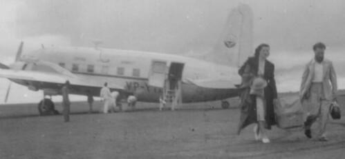 1950 Lusaka landing: CAA Vickers Viking (possibly VP-YIE)