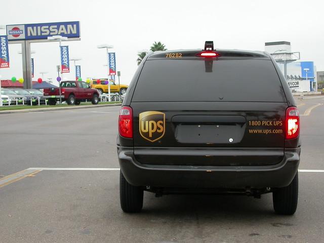brown sandiego ups delivery dodge caravan van parcel minivan unitedparcelservice