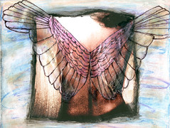 Remote Possibility (Kelly Angard) Tags: collage angel canon wings mixedmedia illustrationfriday alteredphoto thisisnow kellya mixedmediaart kellyangard thecraftygirl efs1755mm kellyafineartphotography