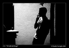 (Danilo Carriglio) Tags: blackandwhite silhouette ilcaffdelborgo nightlife photoexpo kodaktmax3200 canoneos50e film noir smoker lightandshadow interesting interestingness