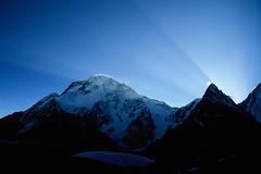 Velvia50-08 (Kelly Cheng) Tags: pakistan light mountain dawn velvia concordia getty broadpeak trekday8concordia mountainshimalaya summitbroadpeak altitude8074m elevation80008500m gettysale pickbykc gi1010 90048273 gi1312 gi1211