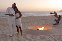 all renewed (jen clix) Tags: loscabos mexico lasventanas meeshsteve weddingvowrenewal sand fire white sunset romantic anniversary champagne portrait