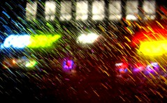 night rain (sophiacreek (again)) Tags: seattle red 15fav abstract colors beautiful rain weather yellow night 510fav wow wonder 100v cool neon shine purple zoom availablelight awesome great 123 blurr stg universitydistrict 1on1 interestingness438 i500
