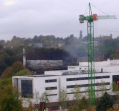 smoking_ruin (DrJohnBullas) Tags: building fire university southampton destroyed mountbatten ecs downloadedusingbulkrhttpclipyourphotoscombulkr