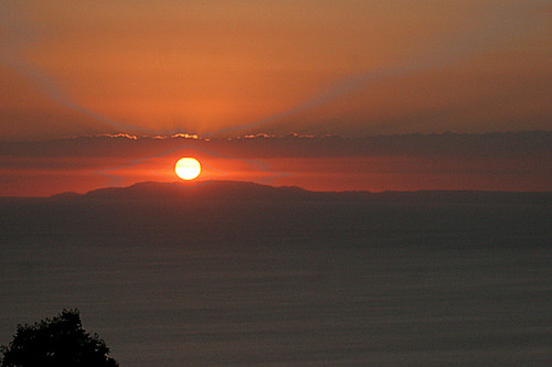 Costa Rica sunset over Gulfo Nicoya