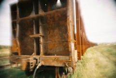 rusty rails (nuanc) Tags: railroad abandoned freeassociation metal train lomo lca lomography rust tracks rusty railway themerusted loveit rusted bigcalm nuanc week3 purge2 purgeprotectedbyg purgewk49