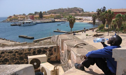 ansoumana on gorée island por staffan.