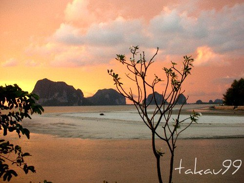 Sunset of Chang Lang Beach in Trang, Thailand