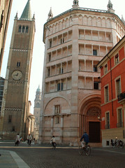 Parma Baptistry and Bell Tower