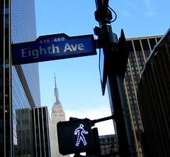 Empire State Bldg in the sky (Susan NYC) Tags: street nyc newyorkcity ny manhattan landmarks landmark midtown esb empirestatebuilding empirestatebldg 34thst eighthavenue mc05negativespace