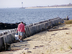 That Walk (aka Buddy) Tags: 2005 man beach bay newjersey fishing seagull nj og monmouthcounty pilings sandyhook thebigone scoopaway gatewaynationalrecreationarea 123nj 123njpeople