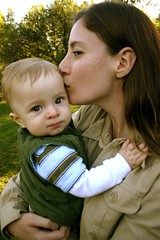 Max and Shana (.brian) Tags: mother child woman kid portrait kiss baby