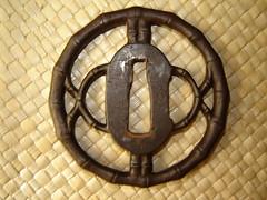 Tsuba...Bamboo. (Tatsu*) Tags: japanese bamboo warrior samurai kendo katana iaido tsuba bushido japanesetsuba nippontsuba samuraiswordtsuba swordfittings