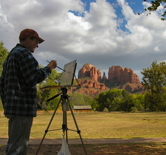 A Painters Paradise (Bubba Trout) Tags: red arizona rock tag3 taggedout interestingness bravo paint tag2 artist tag1 cathedral sedona painter allrightsreserved 77points i500 ©allrightsreserved interestingness1500 123hallofame