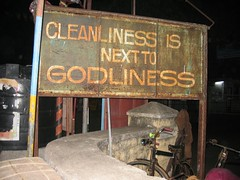 Rusty Cleanliness... (.Roald.) Tags: india rust clean ironic cleanliness godliness