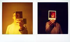Pairs (Cea tecea) Tags: self polaroid sx70 pair complementary diptych topv111