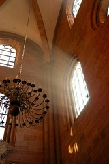 Sunbeams (allanimal) Tags: germany chandelier worms sunbeam rheinlandpfalz allanimal churchtemple